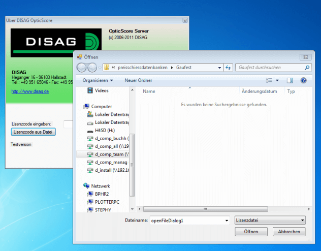 Datei instalieren