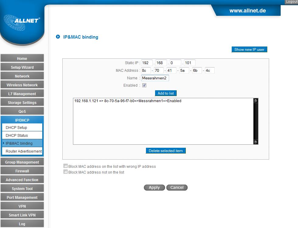 allnetUnifiedIpManagementBeispielkonfiguration