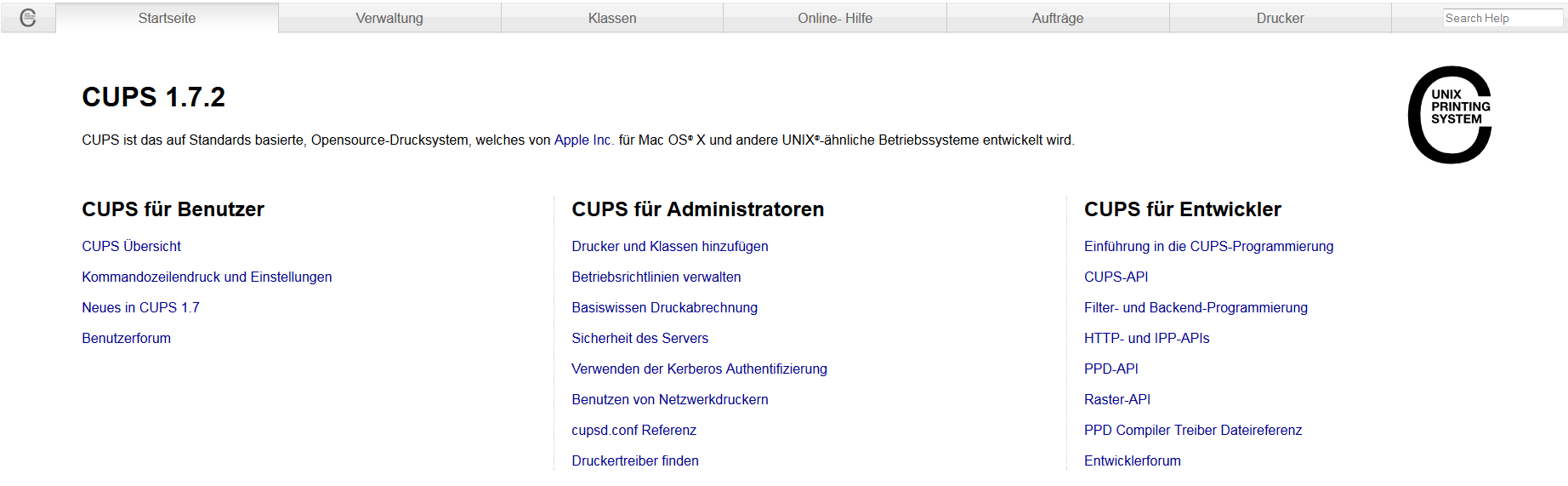 GateWebinterfaceDruckeradministration