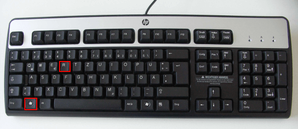 Keyboard_Windows+R